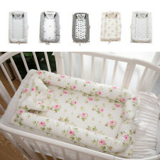 Portable Cotton Baby Bassinet Crib Cocoon Newborn Cot Bed Breathable Soft