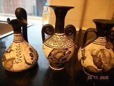MUSEUM COPY X 3 REAL COPY BLACK FIGURE CLASSICAL PERIOD 530 B. C GREECE