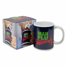 Mug. Man Flu Survivor Humour Joke Novelty Fun Christmas Present For Him Kitchen