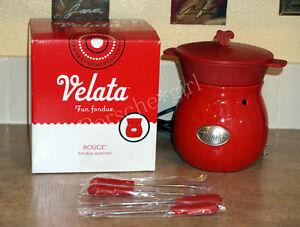 Velata Rogue Fondue Warmer With Lid Chocolate