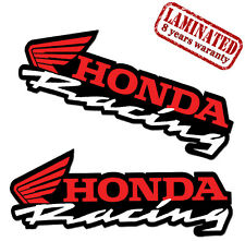 2 Adesivi Vinile Sticker Auto Moto Honda Racing Sponsor Rally Scooter B 36