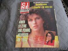 """""""CINE TELE REVUE N°1 - 1984"""" Clio GOLDSMITH, Nana MOUSKOURI, Bernard GIRAUDEAU"""