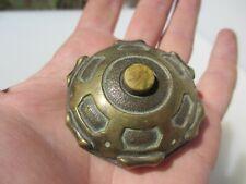 """Vintage Brass Doorbell Door Bell Button Old Antique Servant  2.1/8""""W"""