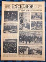 La Une Du Journal Excelsior 3 Novembre 1922 Le triomphe Des Facistes En Italie