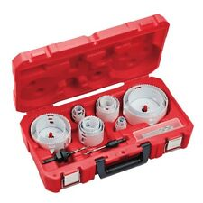 Milwaukee Plumbing Bi-Metal Hole Saw Set 19 PCS Arbor Kit Power Tool Drill Bits
