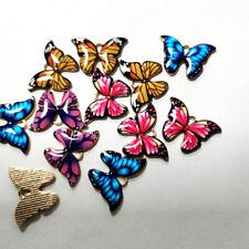 Enamel Butterfly Pendant Alloy DIY Necklace Earrings Jewelry Hand Making Gift
