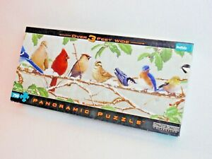Hautman Brothers Jigsaw Puzzle 750 Pieces Panoramic 3' Long Winter Songbirds 14+