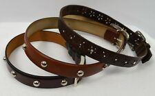 Custom Handmade Genuine Leather Dog Collar choose color stud studded SZ S M L XL