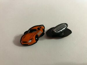 Orange Race Car Shoe-Doodle for holes of Rubber Shoes or Crocs Shoe Charm PSC206