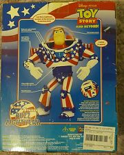 "DISNEY PIXAR TOY STORY BUZZ LIGHTYEAR STARS AND STRIPES 12"" ACTION FIGURE RARE"