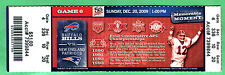 TOM BRADY! 12/20/09 NEW ENGLAND PATRIOTS/BUFFALO BILLS FULL TICKET-JIM KELLY