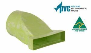 Ecoduct Low Profile PVC Rectangular to Round Adaptor 200Ø - 300x70