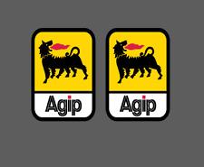 2 Adesivi AGIP MEDIUM Style Sponsor Tecnici auto moto ducati 851 916 panigale