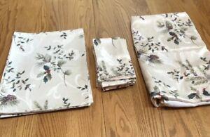 Set Of St Nicholas Square Alpine Season Placemats Napkins Tablecloth Christmas