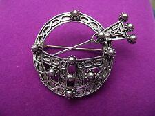 Vintage Celtic Penannular Tara Style Pewter Brooch / Pin