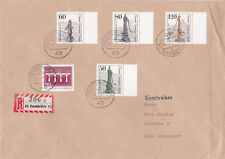 West Berlin 1984 cover Street water pumps Set Registered Mail VGC