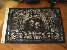 Jack Daniel  bar flag 3 foot x 2 foot mancave bundy rum JD wild turkey