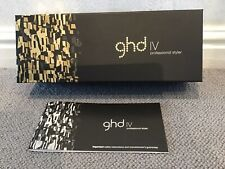GHD IV Original BOX ONLY for Hair Straighteners (with Instruction Booklet)