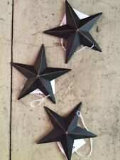 "(Set of 3) BLACK BARN STARS 3.5"" PRIMITIVE RUSTIC COUNTRY DECOR ""FREE SHIPPING"