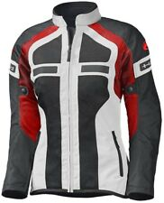Held Tropic II mujer motocicleta malla textil chaqueta gris rojo aireado con DS