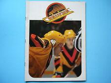 1979/80 VANCOUVER CANUCKS VS EDMONTON OILERS HOCKEY PROGRAM WAYNE GRETZKY ROOKIE
