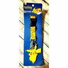 NWT Pokemon Gotta Catch 'em All Lanyard yellow Detachable key ring Ages 6+ 229