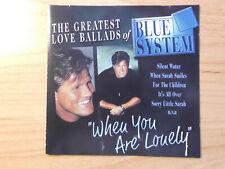 BLUE SYSTEM DIETER BOHLEN CD: THE GREATEST LOVE BALLADS (SR CLUB CD 64 564 8)