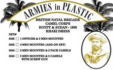 Armies in Plastic - Naval Brigade Camel Corps Khaki Men & Pack Camels 54mm 5644