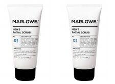 Lot of 2 MARLOWE Men's Facial Scrub No 122 - 6 fl oz. Fresh Sandalwood Scent