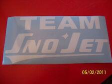 """4""""X 9"""" (NEW White Vinyl) TEAM Sno-Jet STICKER"""