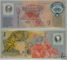 Kuwait Polymer Banknote 1 Dinar Commemorative 1993 UNC