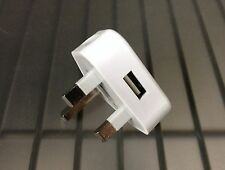 QTY 5 - USB Adapter UK Plug Wall Charger for iPhone 4 4s 5 5s iPod Samsung S4