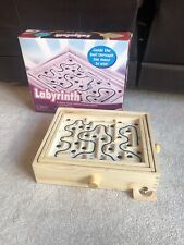 LABYRINTH Wooden Puzzle Maze Game Wood Tilt Skill - New Entertainment In Box