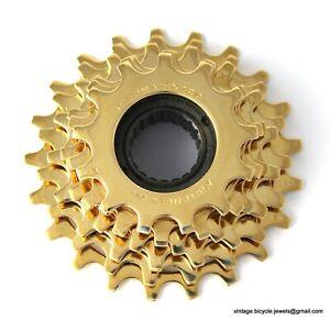 Luxury Vintage Bike REGINA EXTRA SPROCKET Pignone GOLD PLATED 6SP Made in Italy