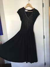 Ricki Lang for Nuit~Black Dress~Size 4~Drop Waist~Zip