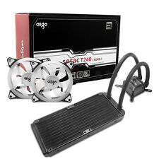 Aigo CPU Liquid Cooler Kit 120mm Fans Water Cooling 240mm Radiator All-In-One