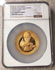 1994 ShangHai Mint FIFA World Cup USA Brass Coin Medal NGC67 60mm Rare