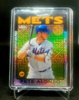 2021 Topps 35TH ANNIVERSARY PETE ALONSO SILVER PACK CHROME REFRACTOR #86BC-65