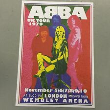 ABBA - UK TOUR CONCERT POSTER WEMBLEY ARENA LONDON 1979 (A3 SIZE)