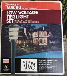 Malibu Lights Low Voltage Tier Landscape Path Light Set Timer VTG NOS Never Used