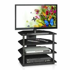 Television Stand with Display Shelves Storage for Entertainment Accessories