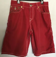 True Religion Swim/Board Shorts, Men's  34  SURF Style. Red, 5-Pkt.  Never Worn.