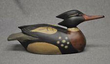 Red breasted merganser drake duck decoy decoys original paint WMW tack eyes