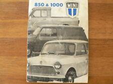 MINI 850 & 1000 1975   HANDLEIDING OWNERS MANUAL,INSTRUCTION BOOK CAR AUTO