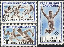 Gabon 1962 Football/Running/Athletics/Sports/Games/Soccer 3v set (n28080)