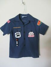 Official Boy Scouts Of America Uniform Shirt Youth Medium Navy Blue Patches Usa