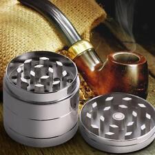 4 Piece/Layer Metal Tobacco Crusher Hand Muller Smoke Herbal Herb Grinder S #Cu3