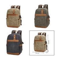 Waterproof Canvas Large Camera Backpack Rucksack Bag for Canon SLR Lens Laptop