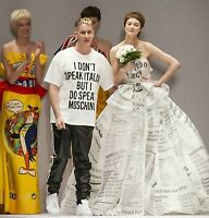 MOSCHINO COUTURE SHIRT XL l m tshirt t oversize jeremy scott dont speak italian