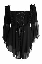 Dare to Wear Black Gothic Victorian FAIRY TALE Top Size Jr S